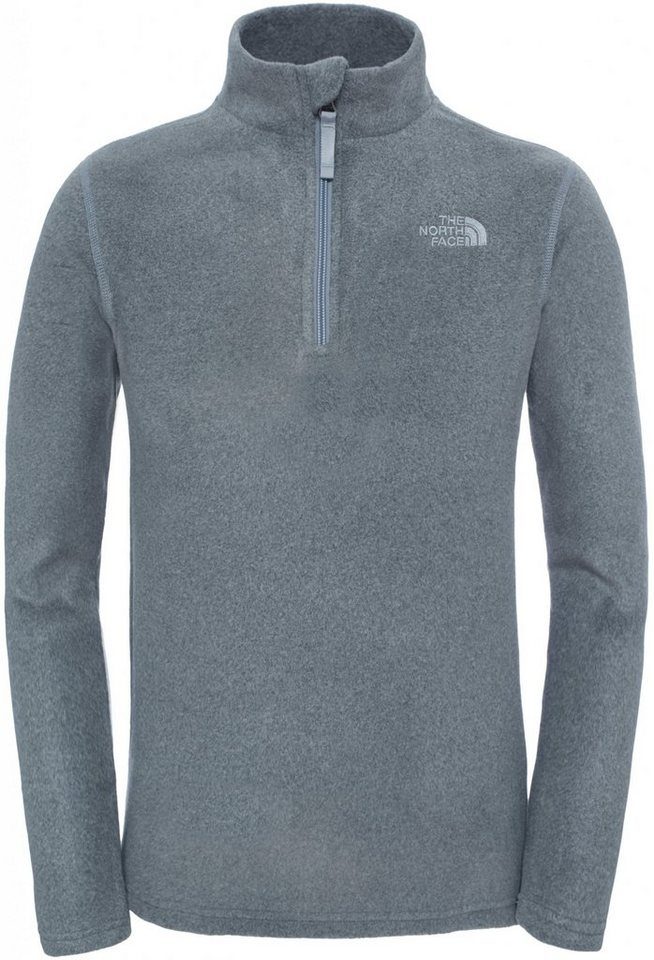The North Face Pullover »Glacier 1/4 Zip Youth« in grau