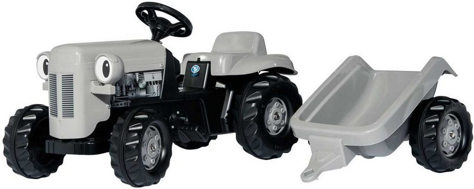 rolly® toys Trettraktor mit Anhänger, »rollyKid Little Grey Fergie« in grau