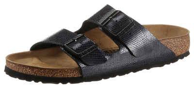Birkenstock »Arizona magical« Pantolette mit Veloursleder-Innensohle, schmale Schuhweite
