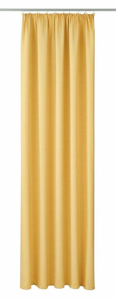Vorhang, VHG, »Pina«, mit Kräuselband (1 Stück) in hellgelb