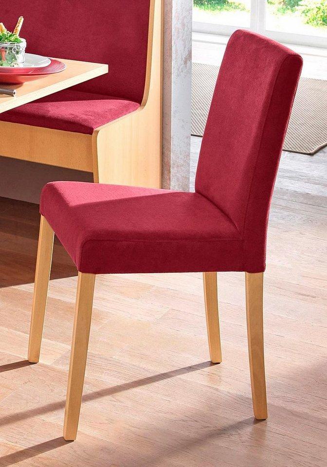 Stühle (2 Stck.) in buchefarben/rot