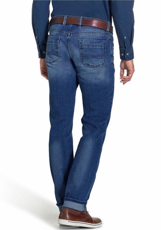 Bugatti Gerade Jeans Five-Pocket-Form in blau