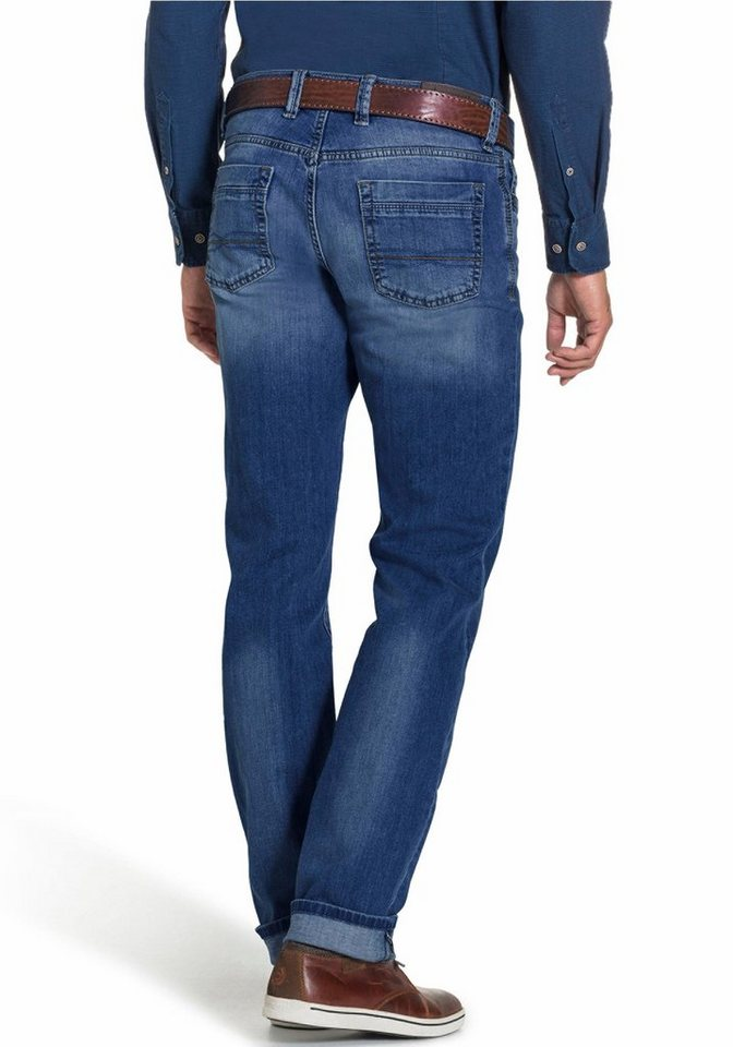 Bugatti Stretch-Jeans Five-Pocket-Form in blau