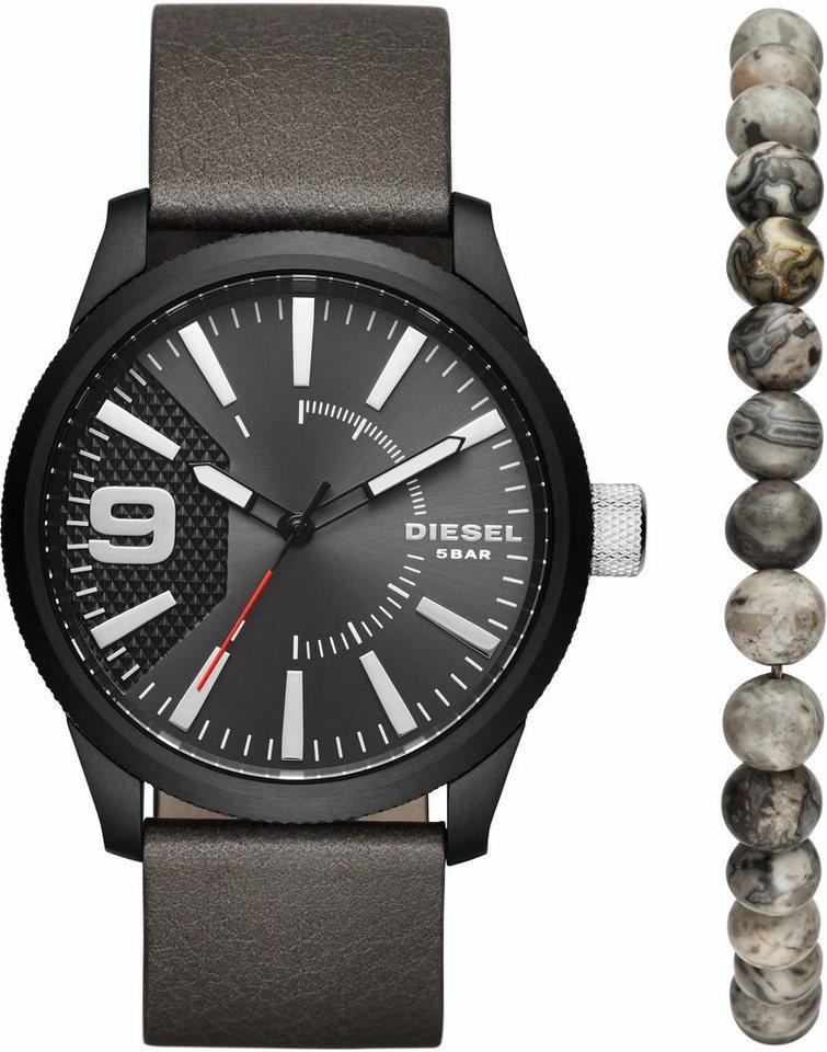 Diesel Quarzuhr »DZ1776« mit Armband (Set, 2 tlg.) in grau