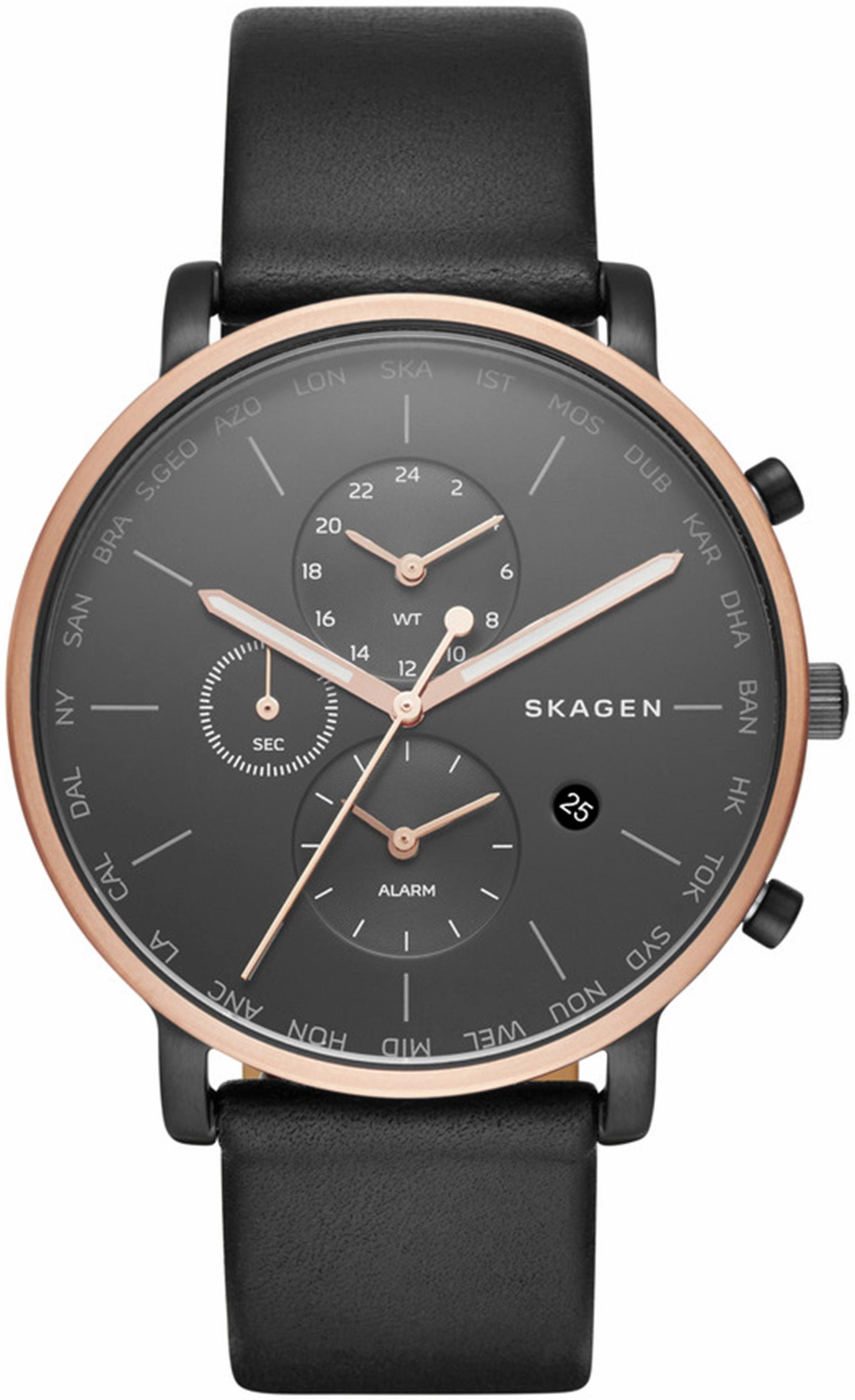 Skagen Quarzuhr »HAGEN, SKW6300«, mit Weltzeit