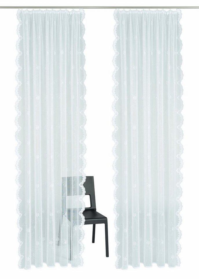 gardine vhg astrid mit kr uselband inkl raffhalter. Black Bedroom Furniture Sets. Home Design Ideas