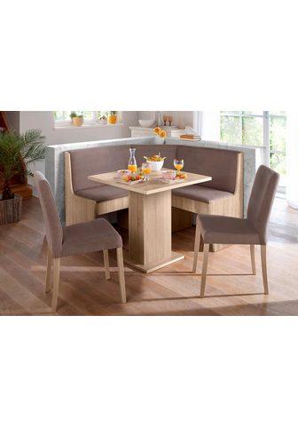 Kampinis virtuvės suolas su kėdėmis (R...
