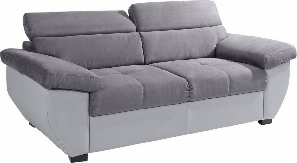 COTTA 3-Sitzer in hellgrau/dunkelgrau