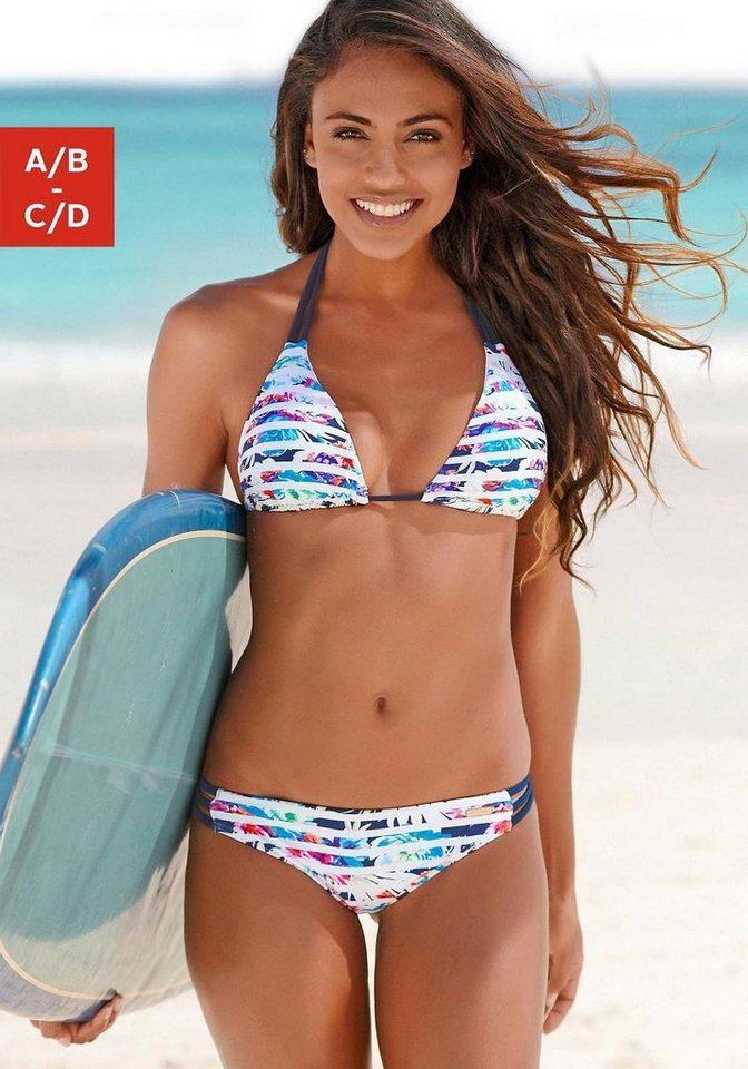 sunseeker Triangel-Bikini mit kontrastfarbenen Bändern