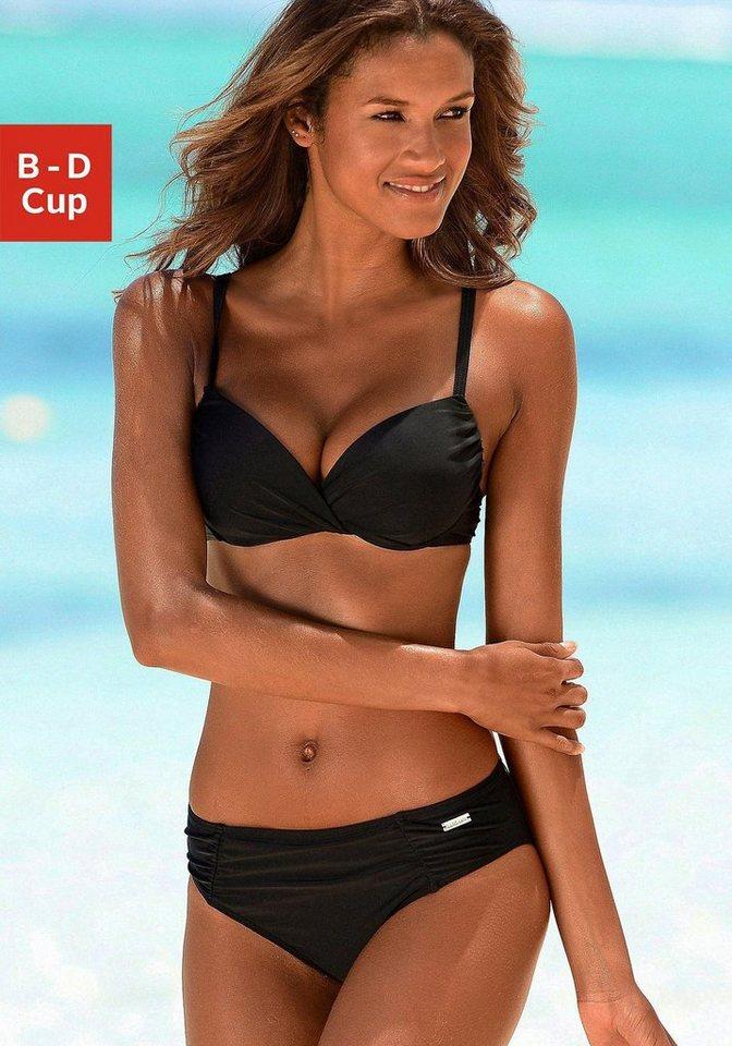 lascana wattierter b gel bikini mit knoten optik am cup. Black Bedroom Furniture Sets. Home Design Ideas