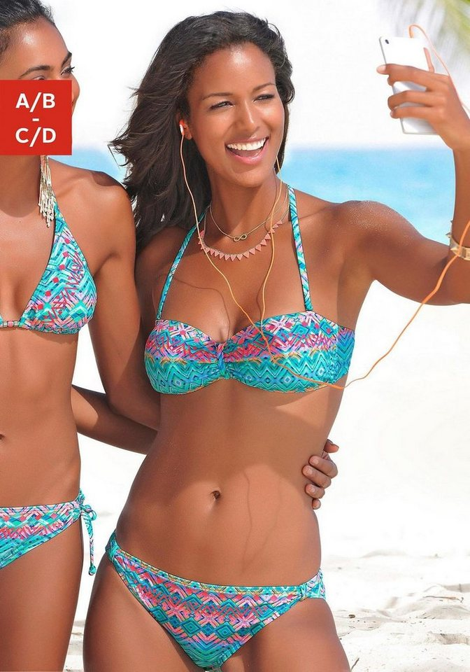 Bademode - Buffalo Bandeau Bikini mit grafischem Muster ›  - Onlineshop OTTO