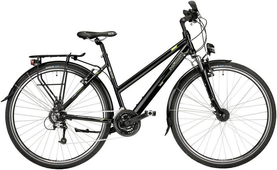 Trekkingrad Damen »Green Trekking«, 28 Zoll, 24 Gang, V-Bremsen in schwarz