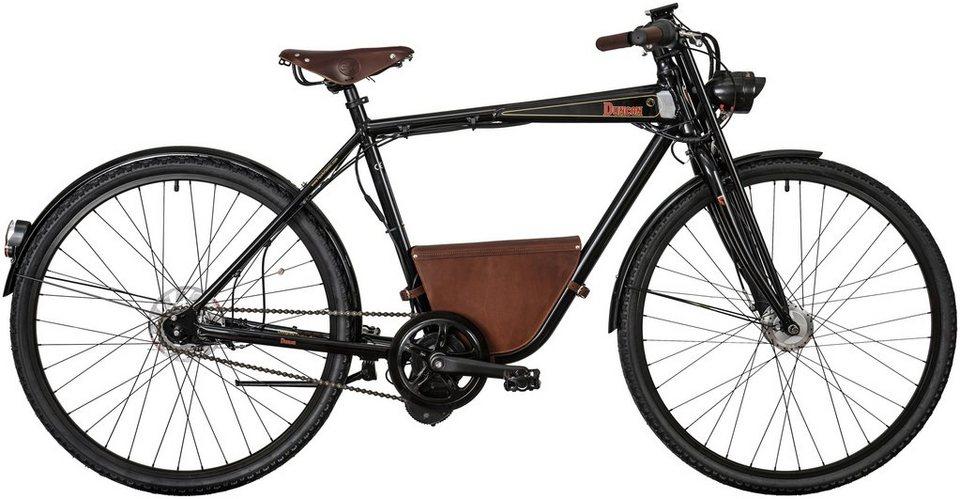 E-Bike City Herren »Duncon«, 28 Zoll, 7 Gang, Mittelmotor, 482 Wh in schwarz