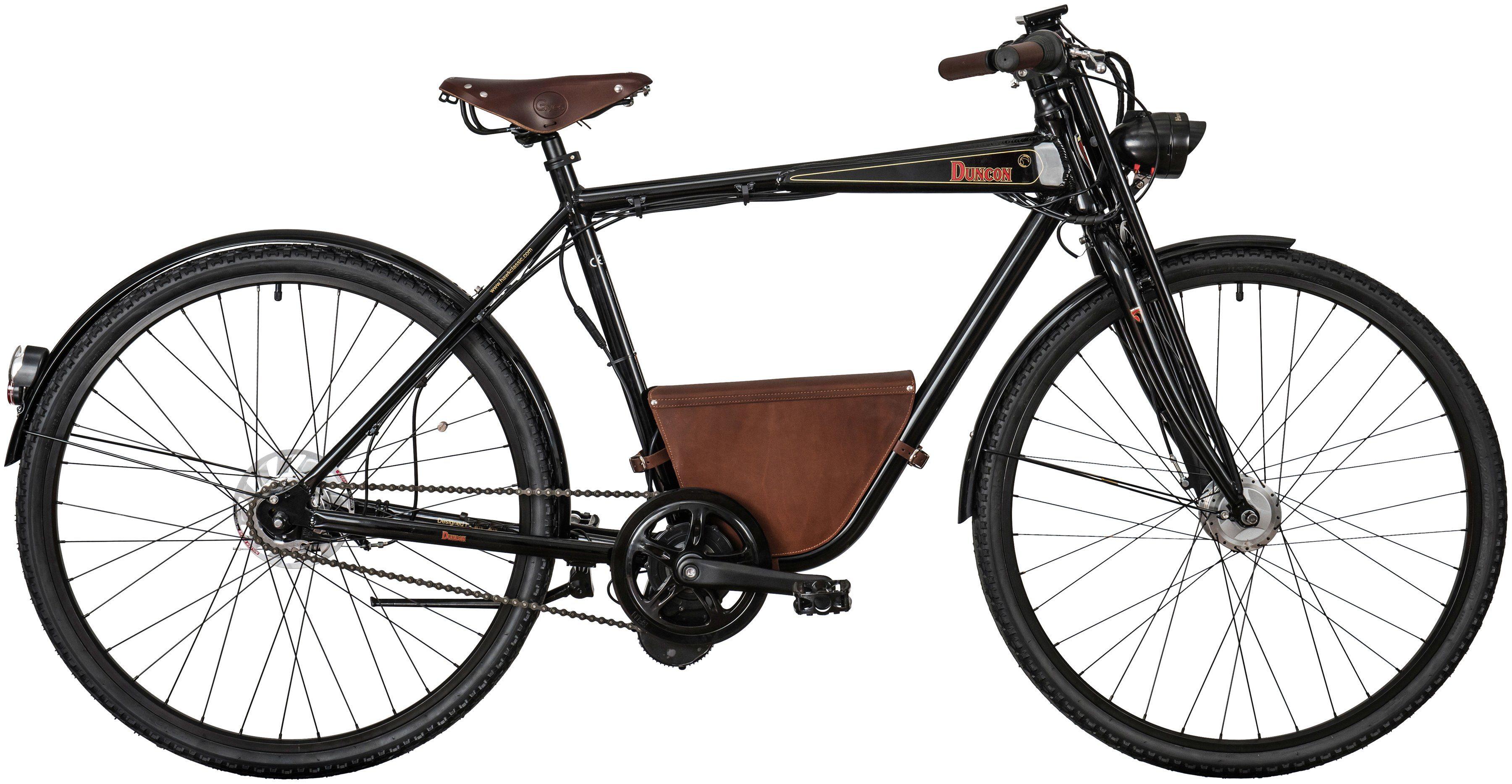 Hawk E-Bike City Herren »Duncon«, 28 Zoll, 7 Gang, Mittelmotor, 482 Wh