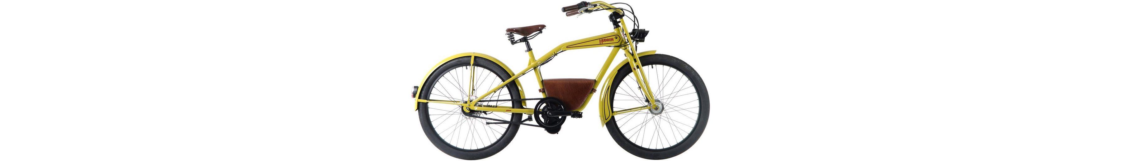 E-Bike City Herren »Hudson«, 26 Zoll, 7 Gang, Mittelmotor, 241 Wh