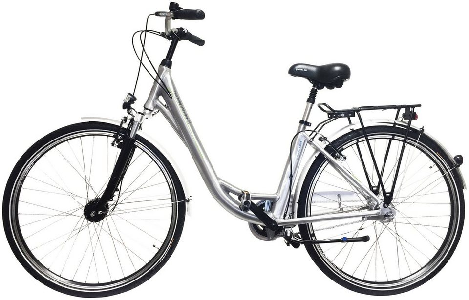 Citybike Damen »Green City Plus«, 26/28 Zoll, 7 Gang, Rücktrittbremse in silberfarben
