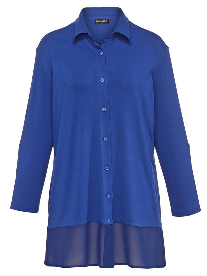 MIAMODA Jerseybluse in royal