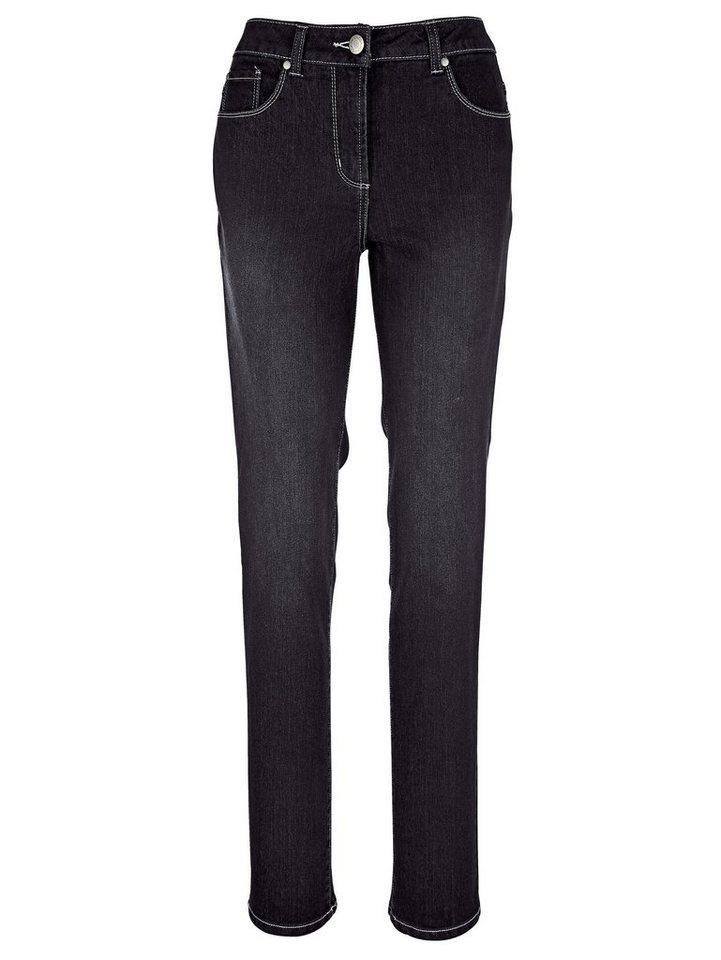 MIAMODA Bauchweg Jeans in black denim