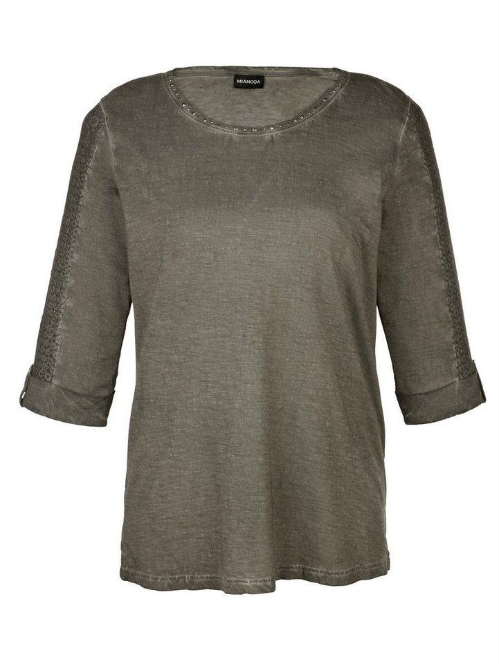 MIAMODA Shirt in khaki