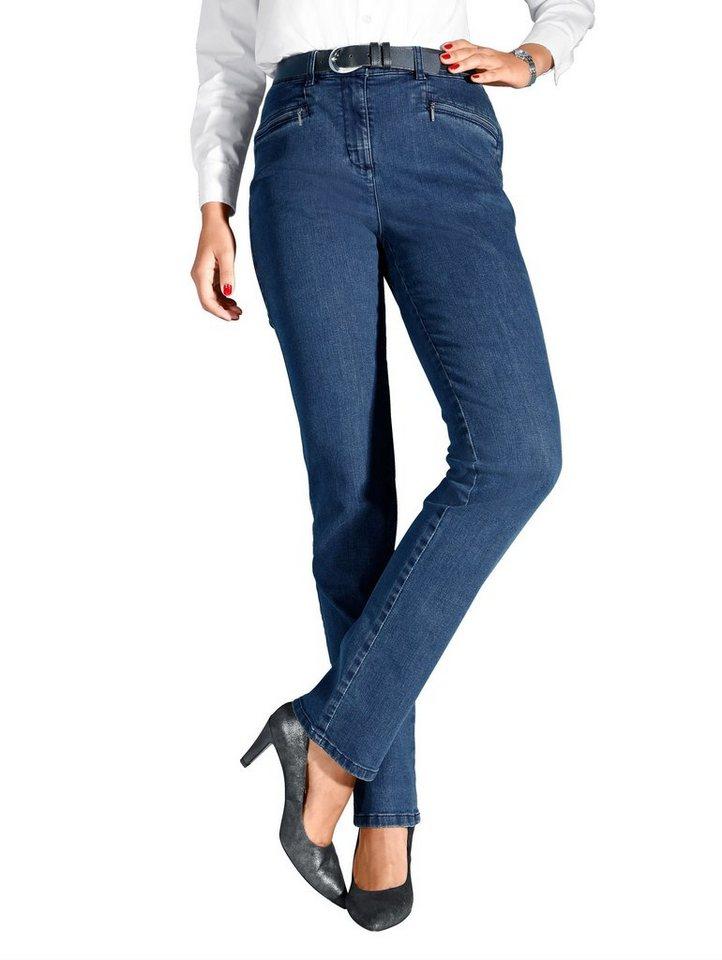 MIAMODA Jeans mit Dehnbundeinsätzen in blue stone