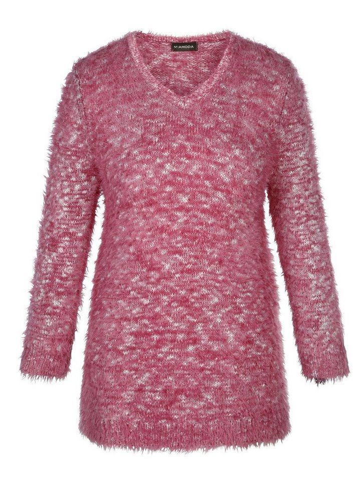 MIAMODA Pullover in himbeere