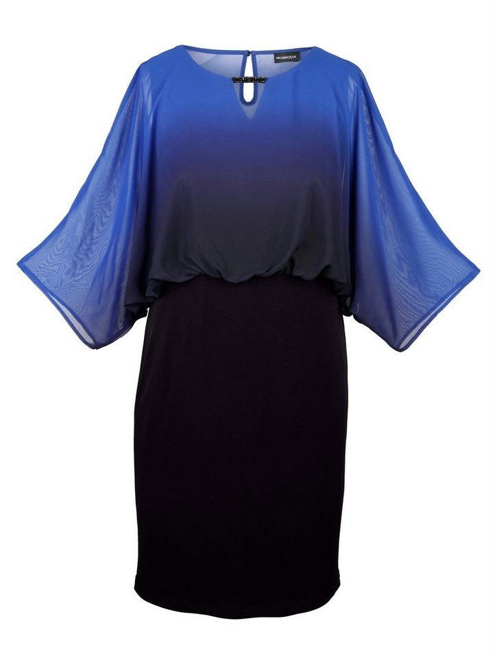 MIAMODA Kleid in schwarz/blau