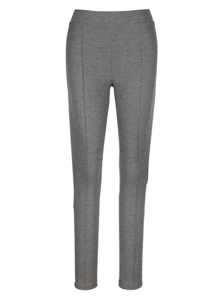 MIAMODA Hose in schwarz/weiß