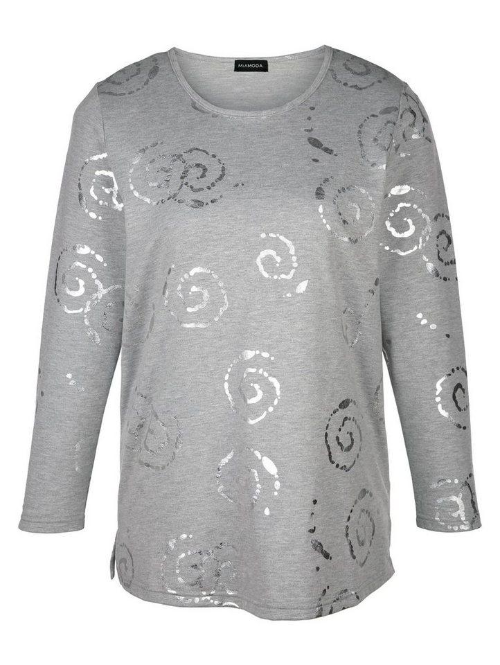 MIAMODA Sweatshirt in grau/silber