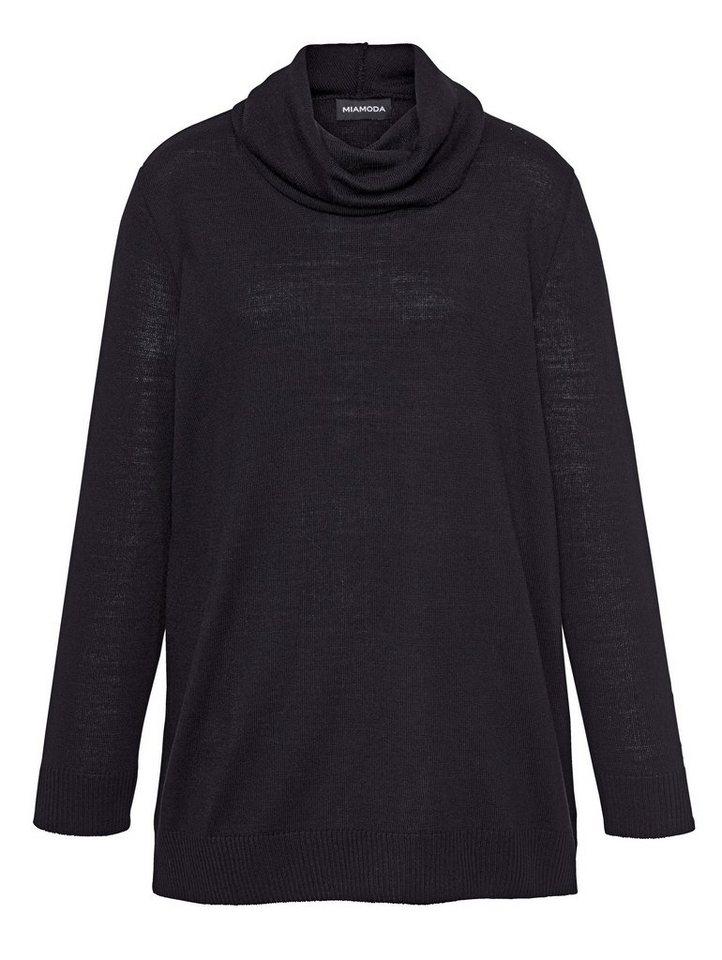 MIAMODA Pullover in schwarz
