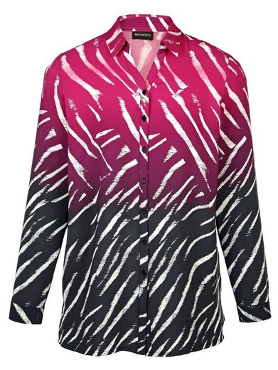 MIAMODA Bluse mit Zebramuster