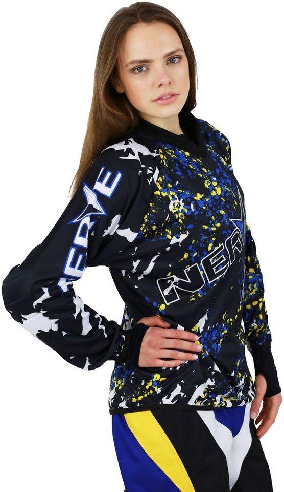 Motocross-Shirt »Nerve « in blau