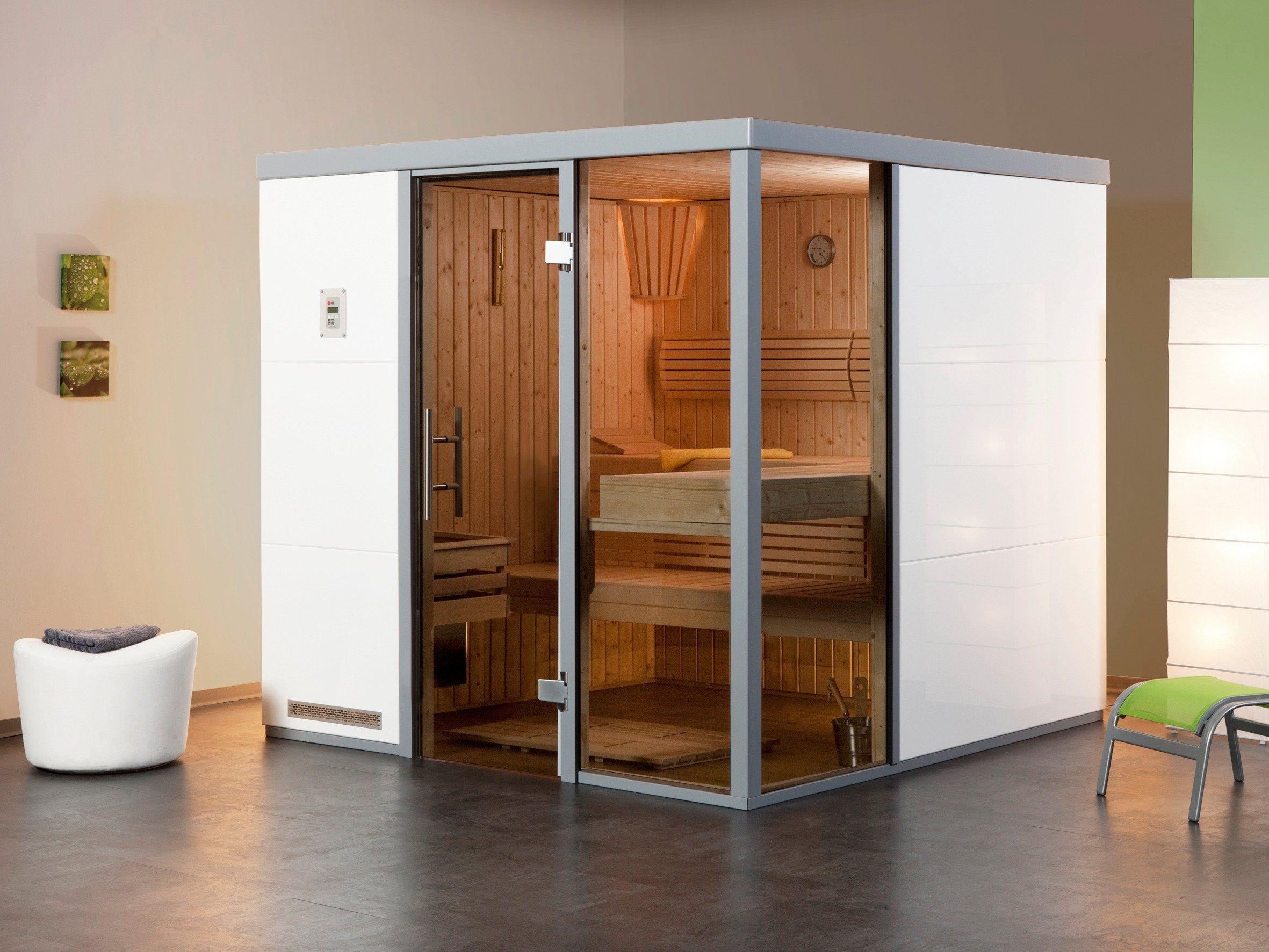 Weka Sauna »Bianco BioS«, 217/183/206 cm, 7,5-KW-Bio-Kombiofen