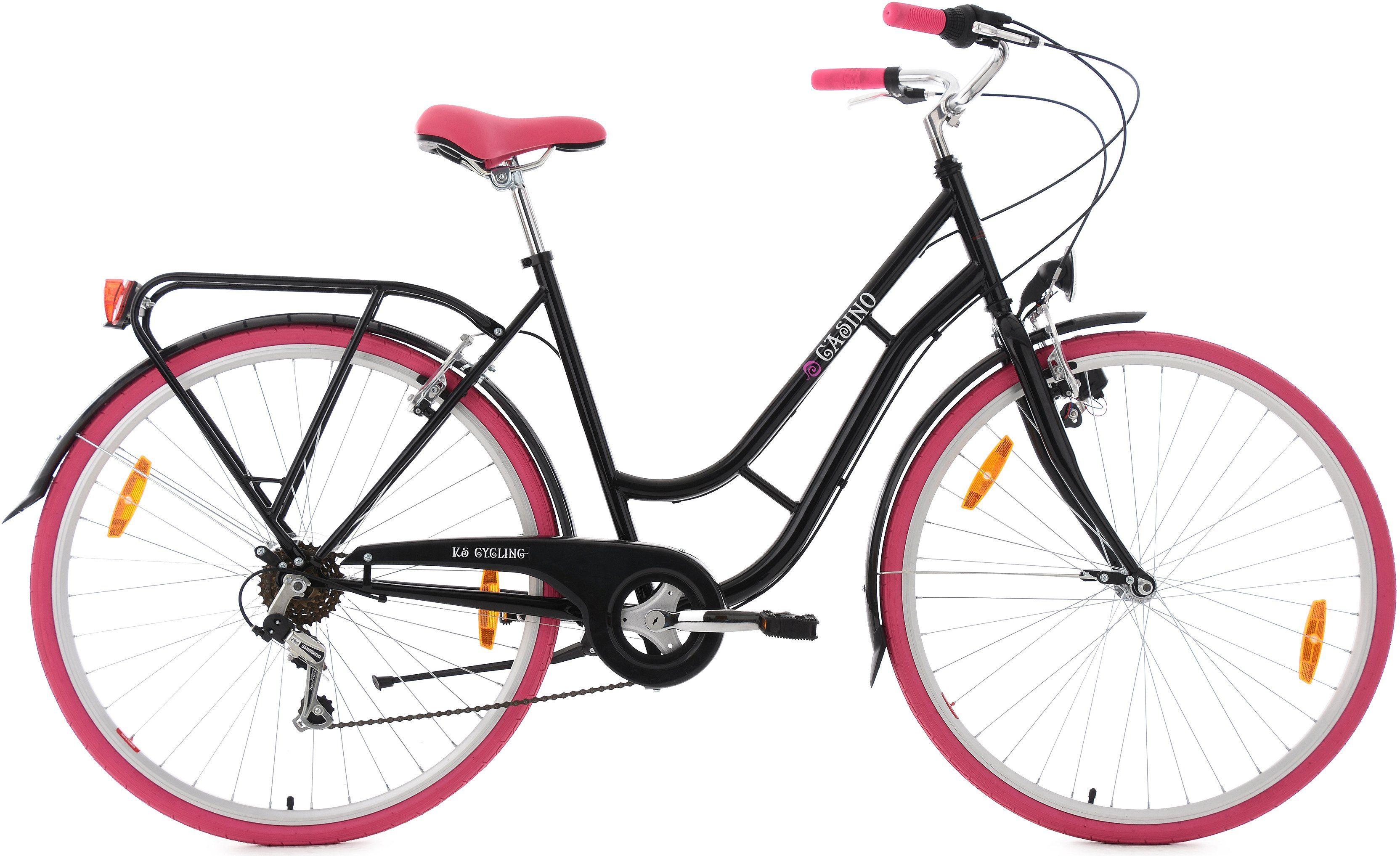 KS Cycling Damen-Cityrad, 28 Zoll, 6 Gang Shimano-Tourney-Kettenschaltung, »Casino«