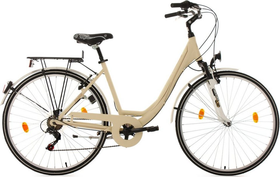 KS Cycling Damen-Cityrad, 28 Zoll, 6 Gang Shimano-Tourney-Kettenschaltung, »Paris« in beige