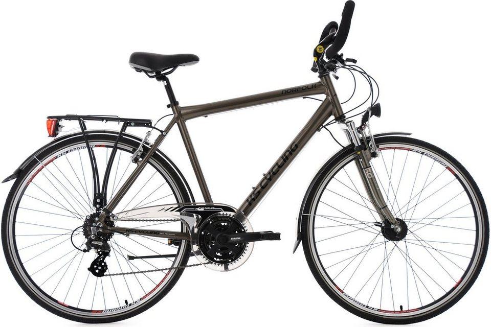 KS Cycling Herren-Trekkingrad, 28 Zoll, 24 Gang Shimano-Altus-Kettenschaltung, »Norfolk« in bronzefarben