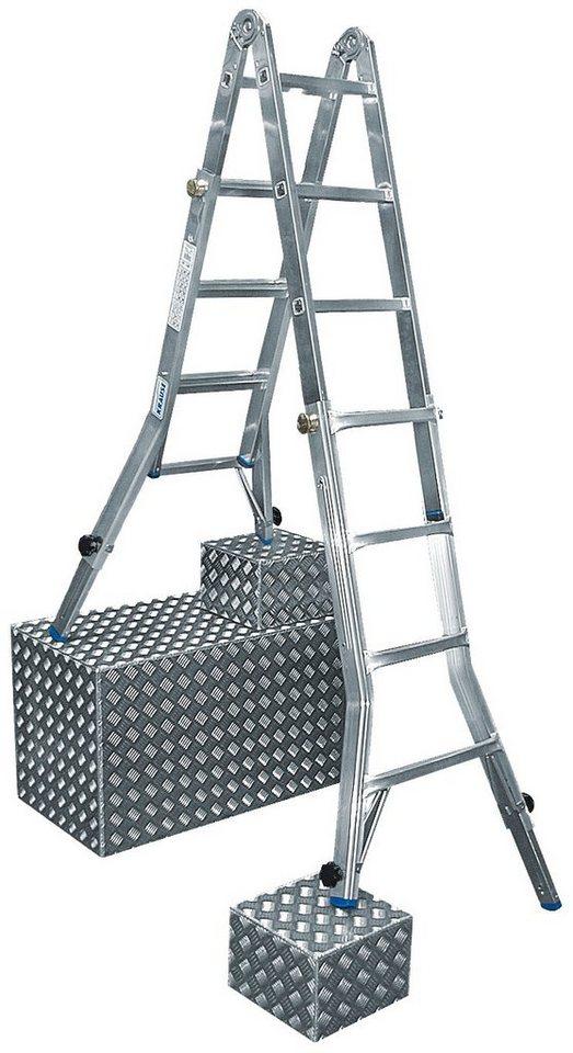 Stabilo Professional Gelenkleiter »STABILO«, mit bis zu 4x5 Sprossen in silberfarben