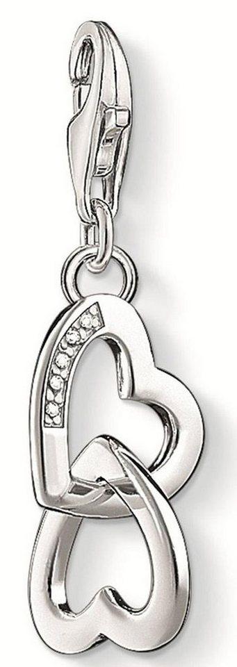 Thomas Sabo Charm-Einhänger »Herzen, DC0028-725-14« mit Diamanten in Silber 925