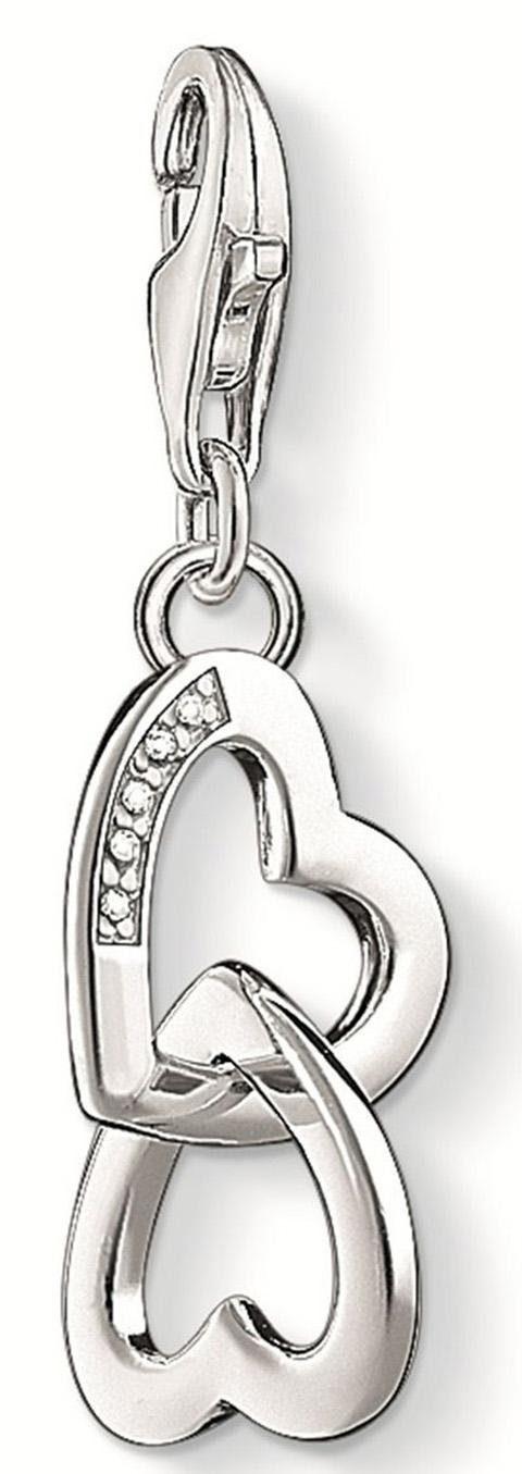 THOMAS SABO Charm-Einhänger »Herzen, DC0028-725-14« mit Diamanten