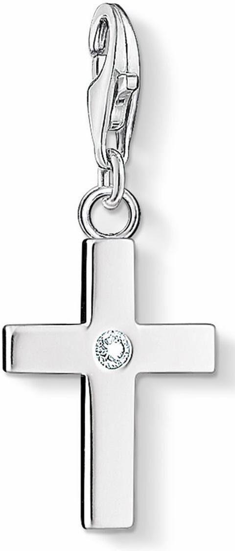 Thomas Sabo Charm-Einhänger »Kreuz, 0366-051-14«, mit Zirkonia