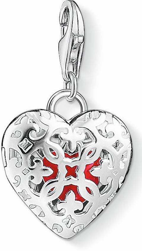 Thomas Sabo Charm-Einhänger »Medaillon Herz, 1313-007-10« in Silber 925-rot