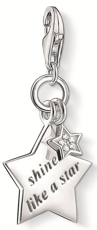 Thomas Sabo Charm-Einhänger »SHINE LIKE A STAR, DC0031-725-14« mit Diamanten in Silber 925