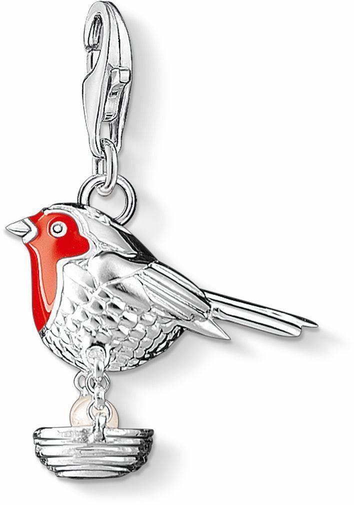Thomas Sabo Charm-Einhänger »Vogel, 1243-158-10« mit Süßwasserzuchtperle