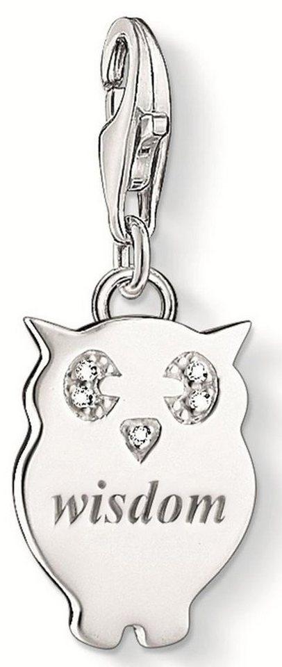 Thomas Sabo Charm-Einhänger »WISDOM, DC0033-725-14« mit Diamanten in Silber 925