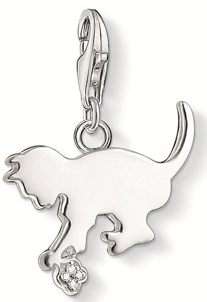 Thomas Sabo Charm-Einhänger »Kätzchen, DC0025-725-14« mit Diamanten in Silber 925