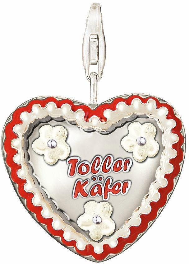 Thomas Sabo Charm-Einhänger »Lebkuchenherz, 0545-007-10« in Silber 925-rot