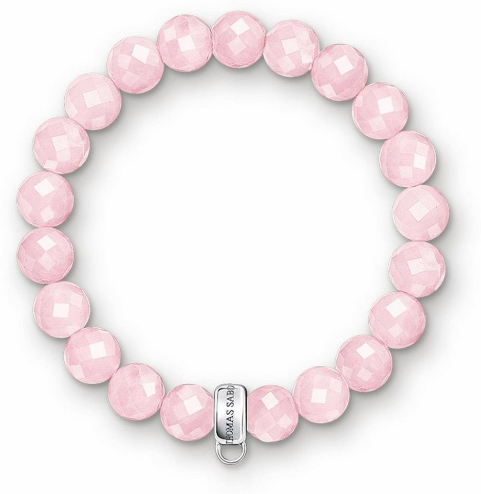 Thomas Sabo Charm-Armband »Armband, X0191-034-9-L15,5, L16,5« mit Rosenquarz in Silber 925-rosa