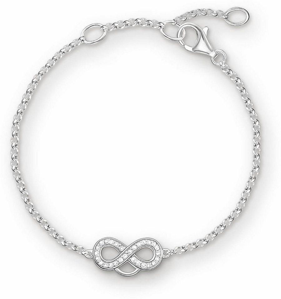 Thomas Sabo Charm-Armband »Armband, X0203-051-14-L19,5v« mit Zirkonia in Silber 925