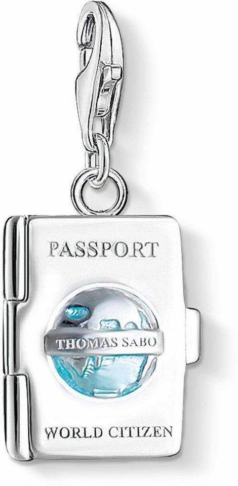 Thomas Sabo Charm-Einhänger »PASSPORT, 1233-007-17« in türkis