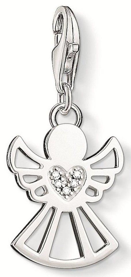 Thomas Sabo Charm-Einhänger »Engel, DC0029-725-14« mit Diamanten in Silber 925