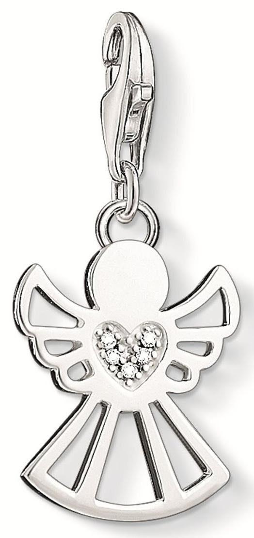 Thomas Sabo Charm-Einhänger »Engel, DC0029-725-14«, mit Diamanten